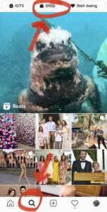 Finding Instagram Shop in Explore